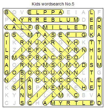 free Kids Bible wordsearch puzzle