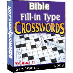 Bible fill-in type crosswords